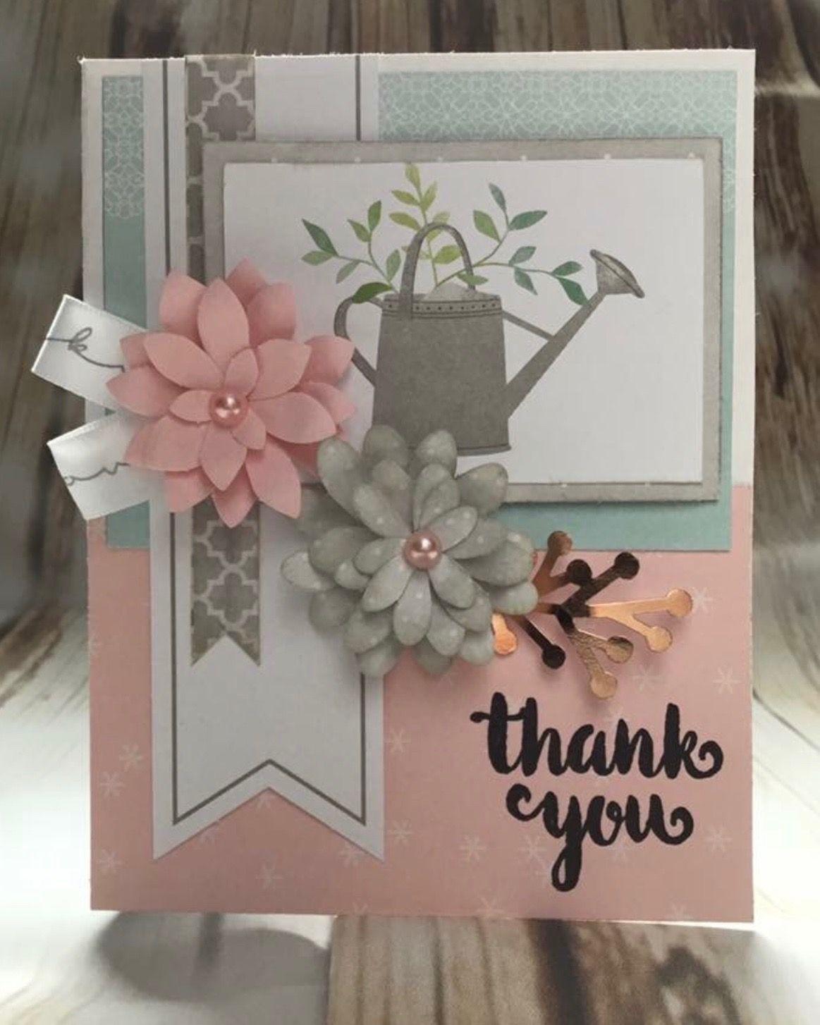 beautiful handmade thank you greeting card  Κατασκευές