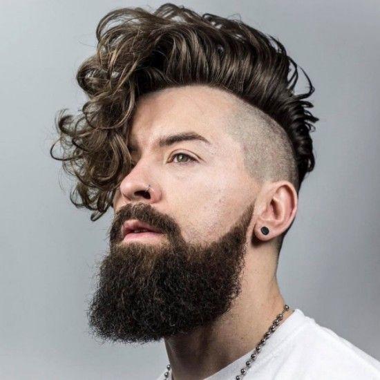Hair Puff Design Long Curly Hair Undercut Hairstyle For Men