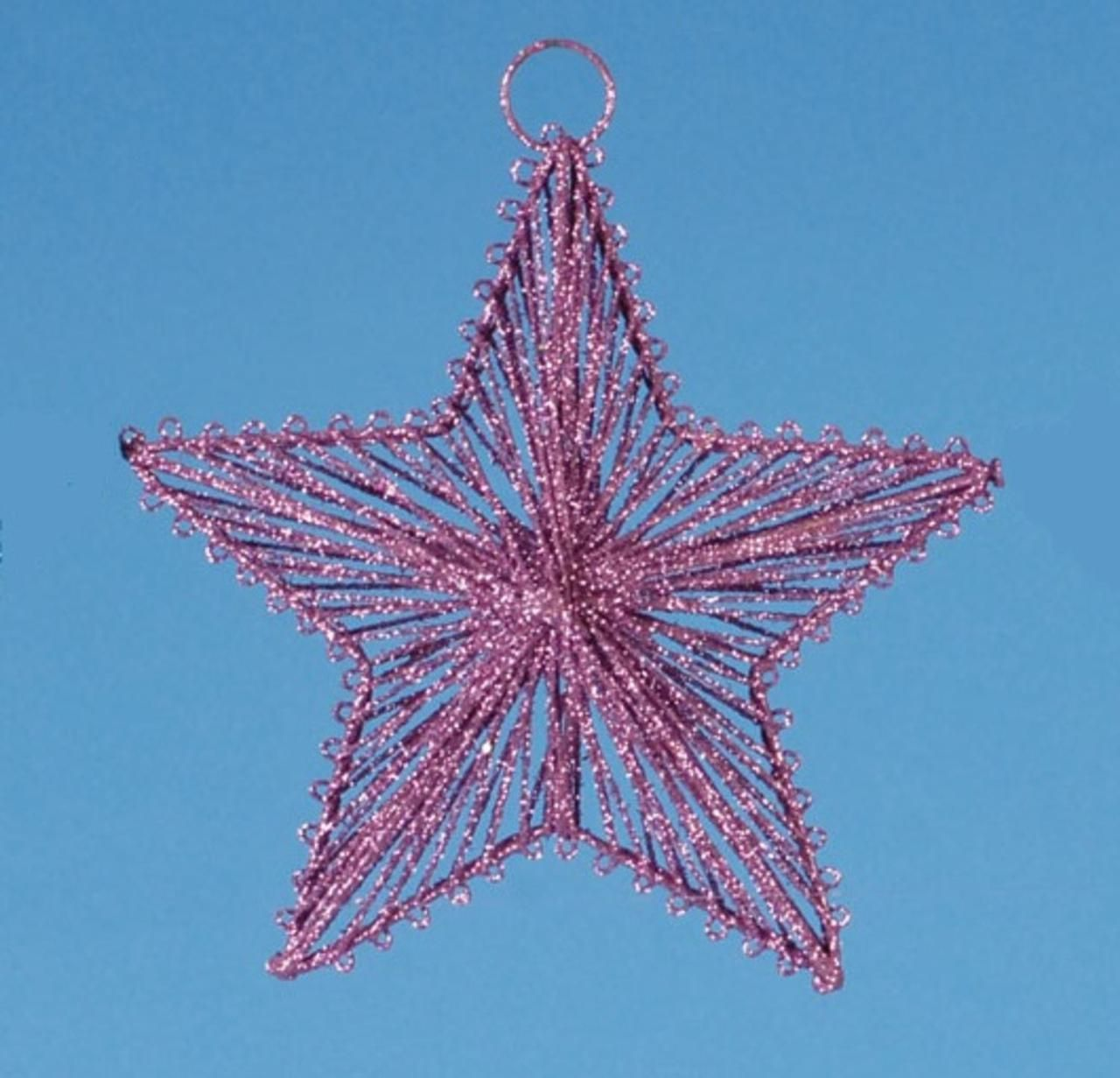 6.5 Mauve Pink Glitter Drenched Dimensional 5-Point Star Christmas Ornament 18379560 | ChristmasCentral
