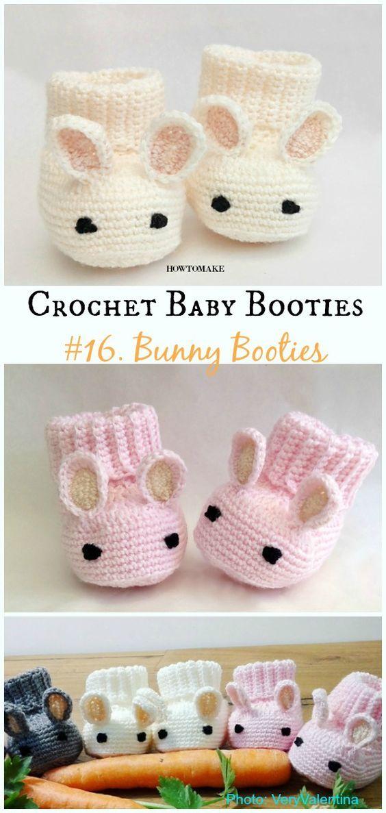 Baby Booties Free Crochet Patterns #freepattern