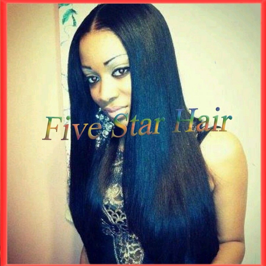 Find More Wigs Information about Hot selling jet black long hair light yaki straight human hair glueless middle part lace front wig & full lace virgin hair wigs ,High Quality Wigs from Five star human hair products store  on Aliexpress.com