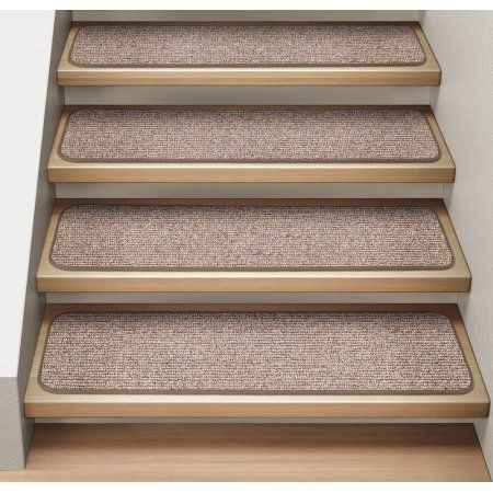 Set Of 12 Attachable Indoor Carpet Stair Treads Pebble Beige 8 In X 23 5 In Several Other Sizes To Choose From Walmart Com Carpet Stair Treads Indoor Carpet Stair Treads