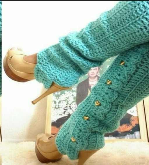 Polainas Tejidas A Crochet | Cuarto de Flor | Pinterest | Häkeln ...