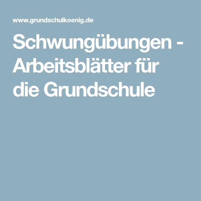 Schwungübungen - Arbeitsblätter für die Grundschule | Kreativ lernen ...