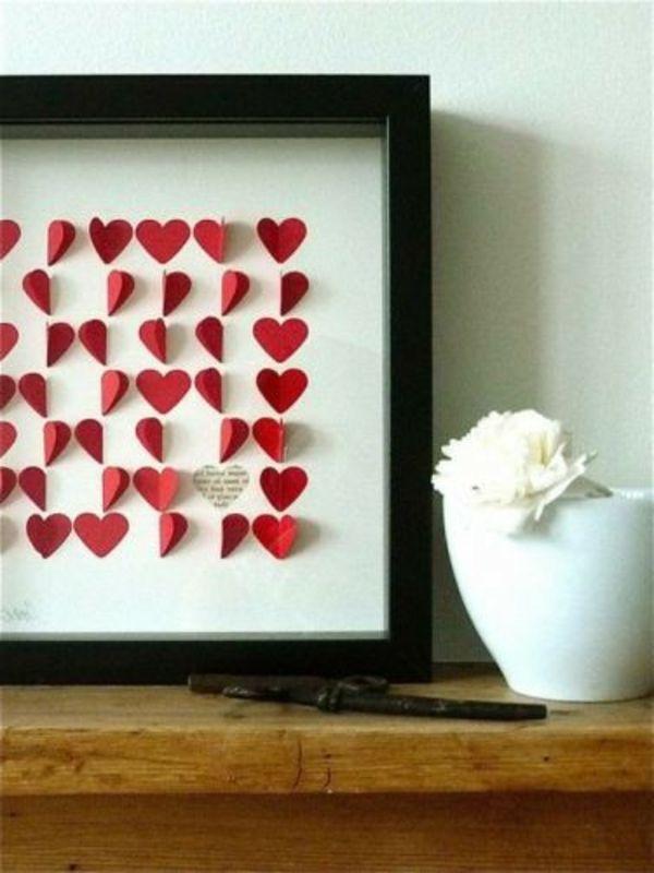 Valentinstag Dekoration Herz Rot Idee