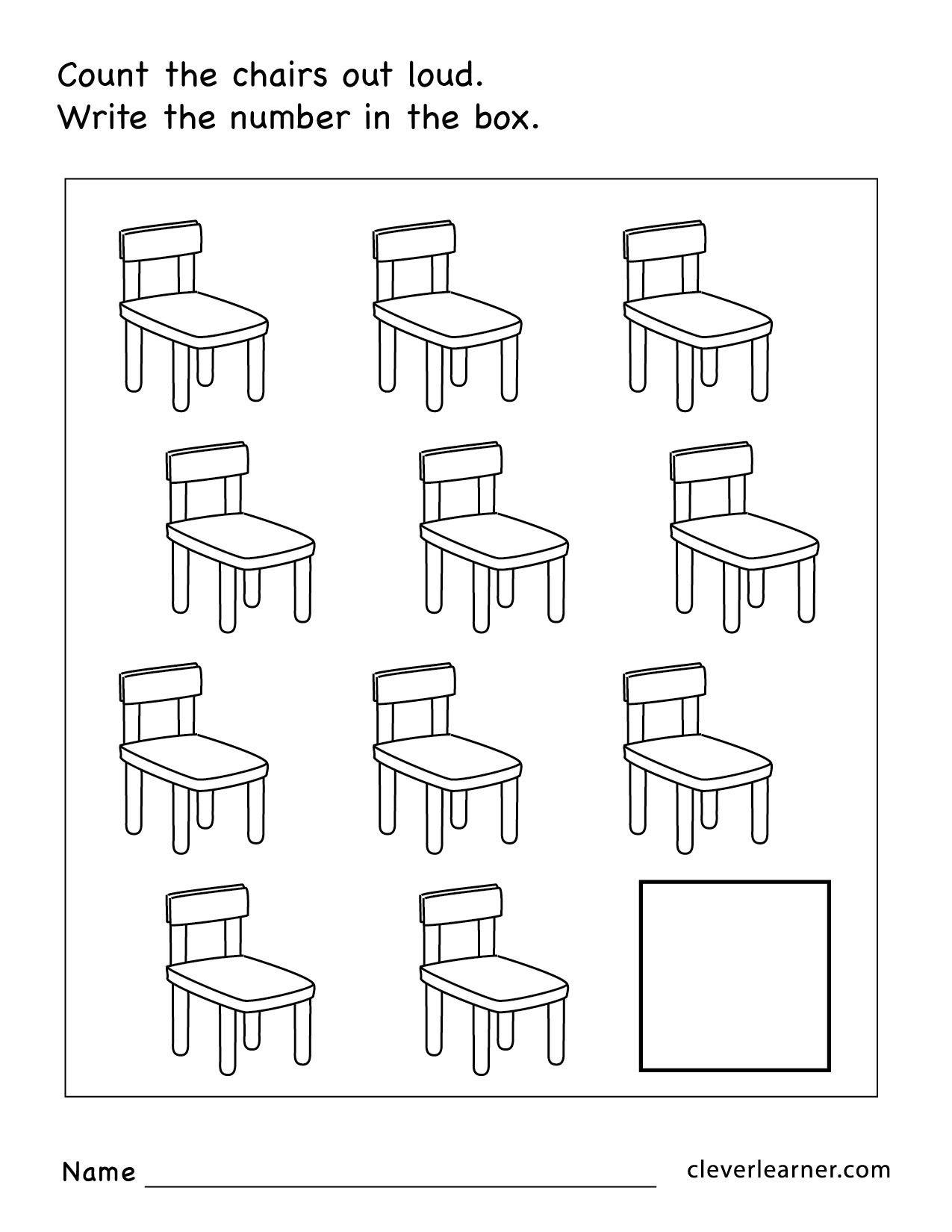 Free Preschool Kindergarten Worksheets Counting Number Recognition 4 In 2020 Kindergarten Worksheets Letter Worksheets For Preschool Printable Preschool Worksheets
