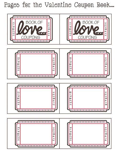 Valentine Coupon Book Cupones Para Novio Libros De Cupones Cupones Imprimibles