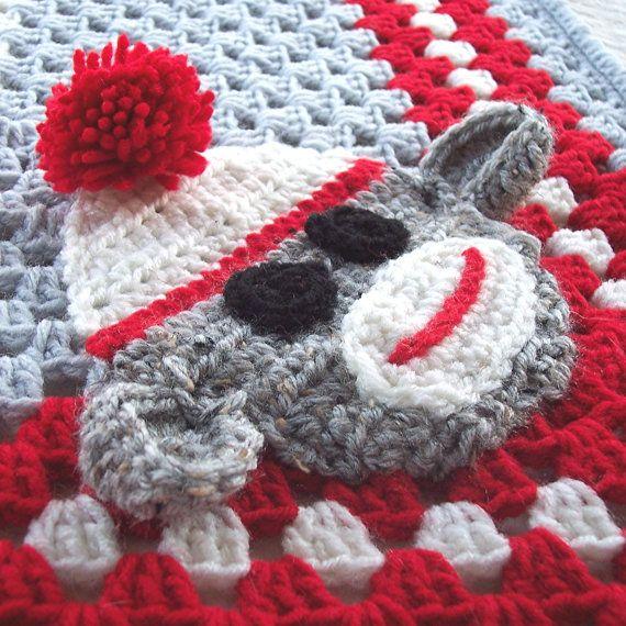 sock monkey granny blanket   Fiber Craft Ideas   Pinterest   Patrones