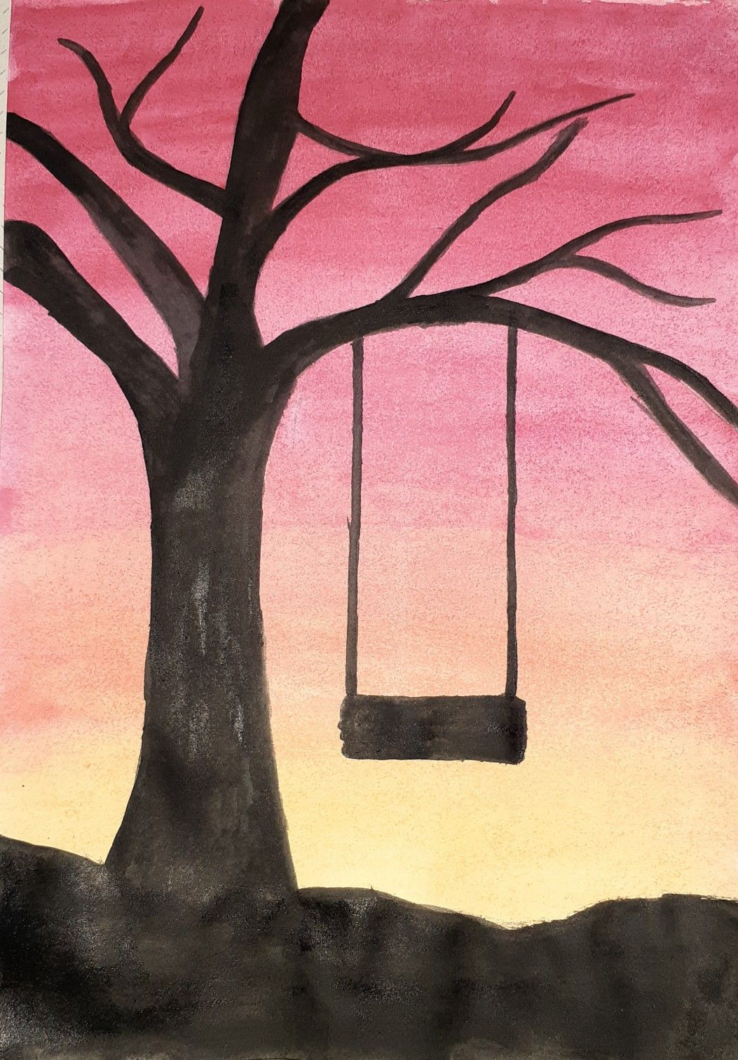 Easy Sunset Drawings Sunset Painting Easy Sunset Painting Easy Landscape Paintings