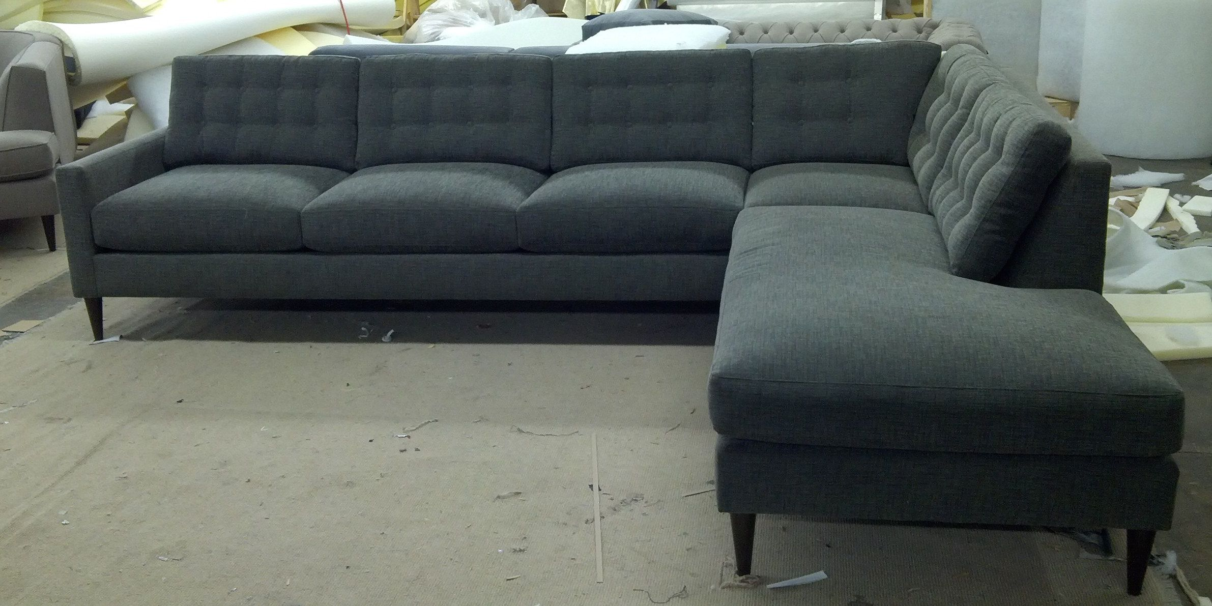 "Hana"" Sofa Bumper Chaise Sectional Every style can be customized"