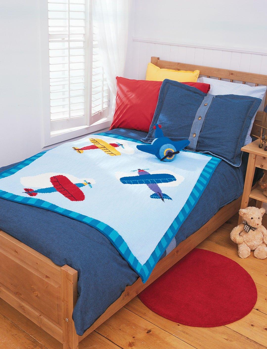 Yarnspirations.com - Patons Airplane Blanket - Patterns ...