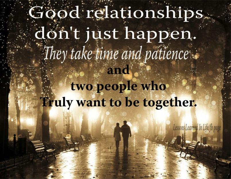 It's True... Relationships Take EFFORT.