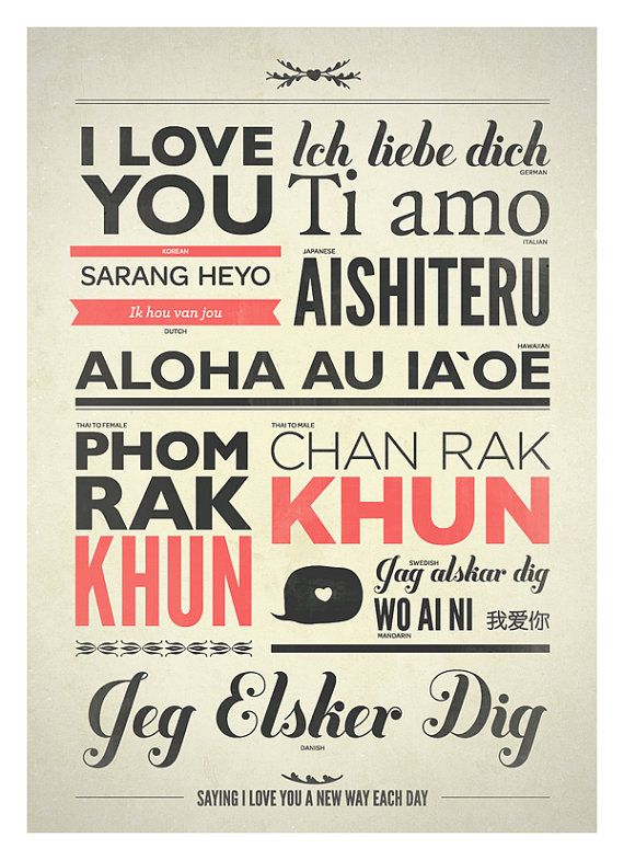 Love Typography Print in Different Language by NeueGraphic