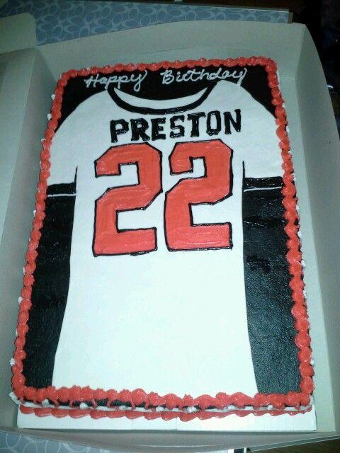 Baseball Jersey sheet cake