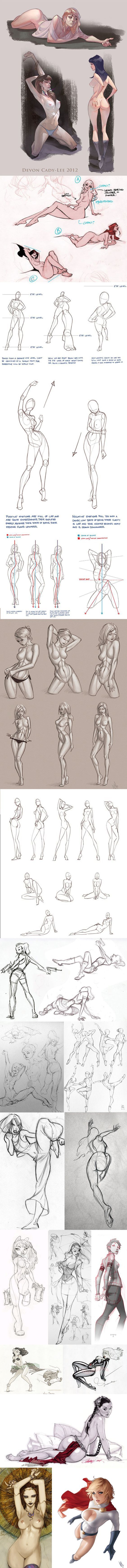 Some great anatomy tips, poses and overviews from Devon Cady-Lee ...