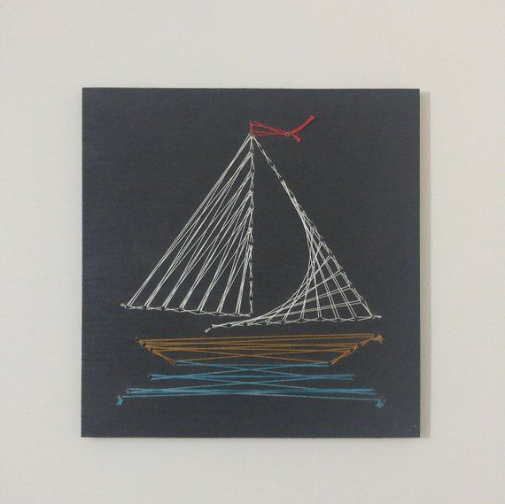 Sailboat string art wall decor also products pinterest rh