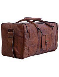 422bafb261 24 Inch Square Duffel Travel Gym Sports Overnight Weekend Leather ...