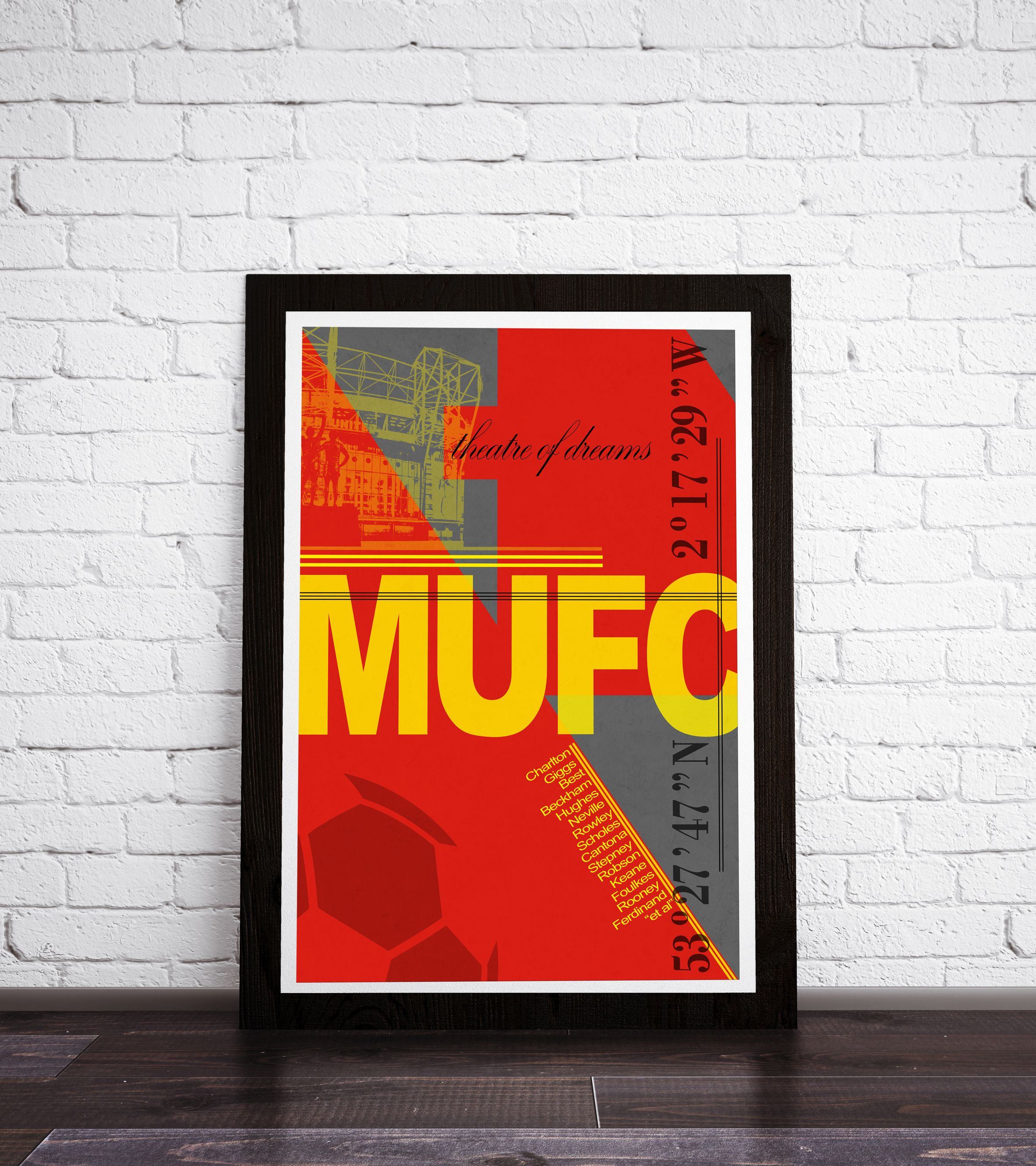 Manchester United Bedroom Manchester United Football Print Man United Football Club Poster
