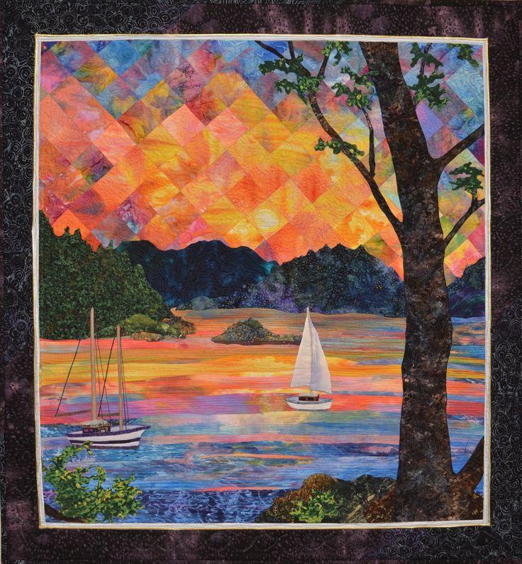 Image result for Landscape Quilt Patterns to Make | Quilt seascape ... : landscape quilting fabric - Adamdwight.com
