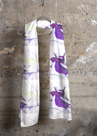 Cashmere Silk Scarf - purple iris by VIDA VIDA