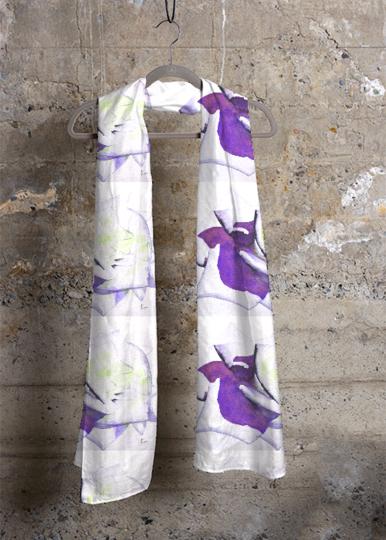 Cashmere Silk Scarf - Violet rose by VIDA VIDA 2Vn8lXg6