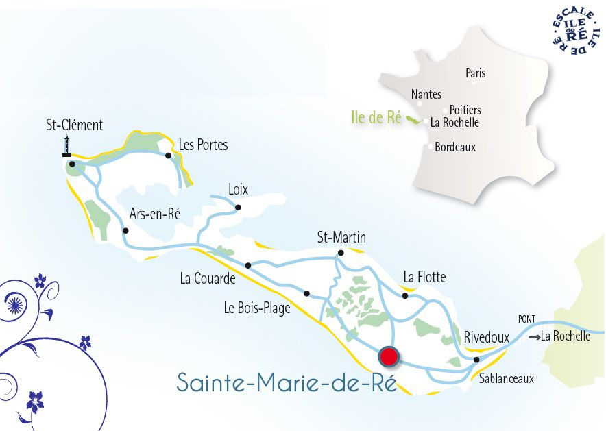 carte de l ile de re Sainte Marie de Ré | Sainte marie, Ile de re france, Ars en re