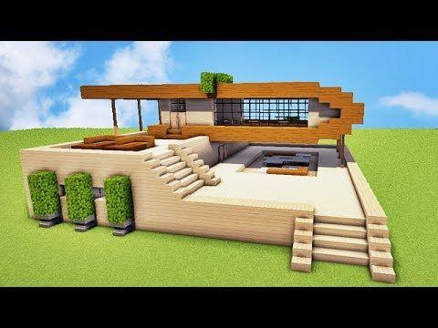 Grand MINECRAFT TUTO MAISON MODERNE !! :)   YouTube