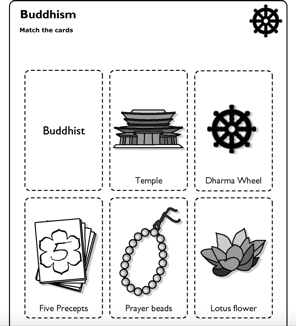 Bbc Schools World Religions Worksheets And Matching Cards