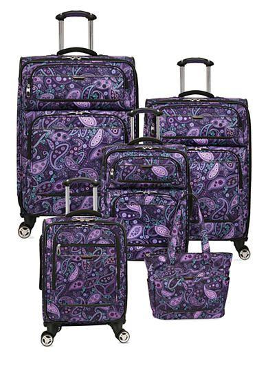 Ricardo Mar Vista Spinner Luggage Collection - Purple Paisley. 18
