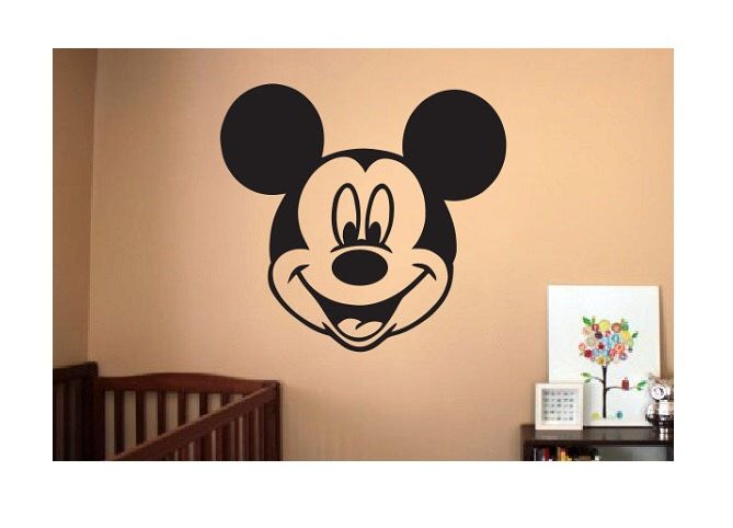 Mickey Mouse Wall Decal   Sticker Large Kids Bedroom Big Fun Nursery Custom  Kid Boy Or