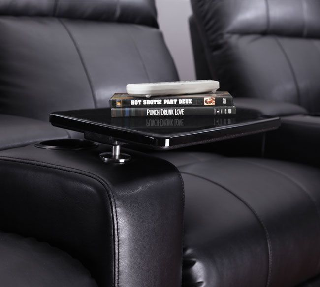 Rowoneblacktable The Row One Tray Table Is The Perfect Accessory To Hold A  Bowl Of Popcorn, Drinks And Even A Meal While Relaxing In Your Theater Seat.