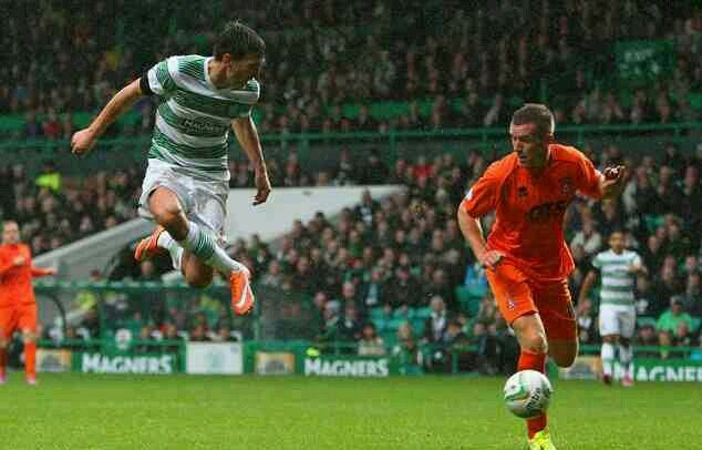 Celtic 2 Kilmarnock 0 in Oct 2014 at Parkhead. It was 2-0 to Celtic after Stefan Scepovic scored #ScotPrem