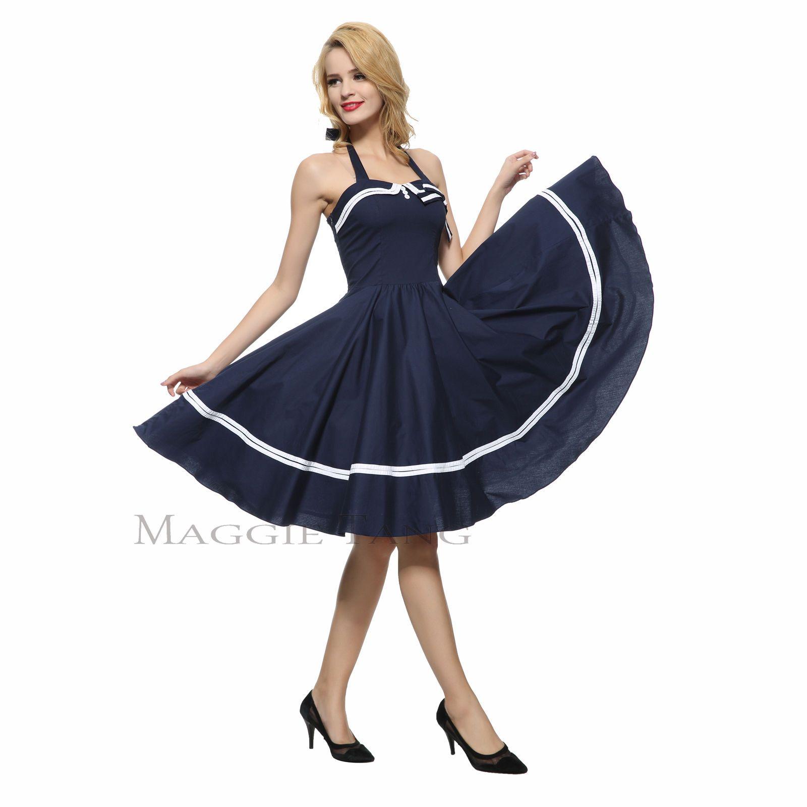 Maggie tang s s vtg pinup nautical sailor rockabilly swing party