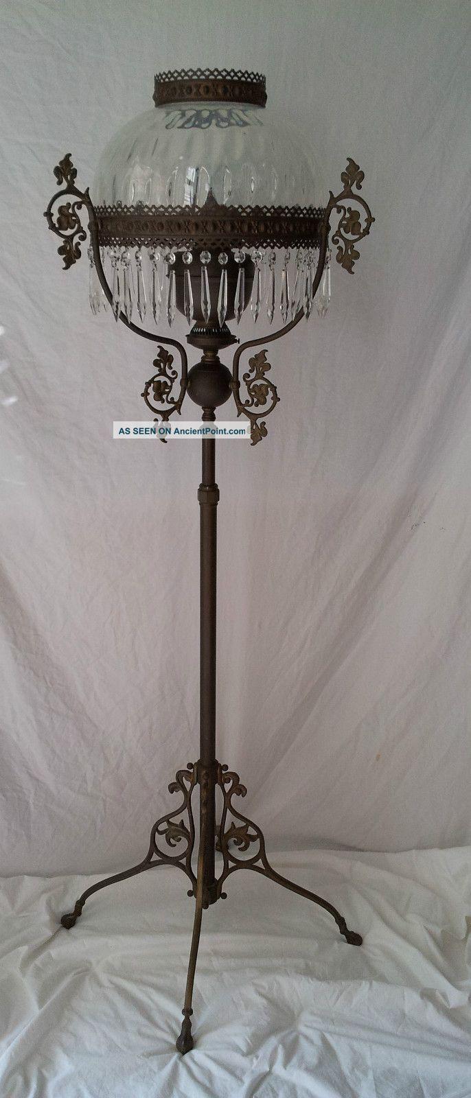 Antique Oil Lamp. ca.1900 | Antique oil lamps, Oil lamps, Lamp