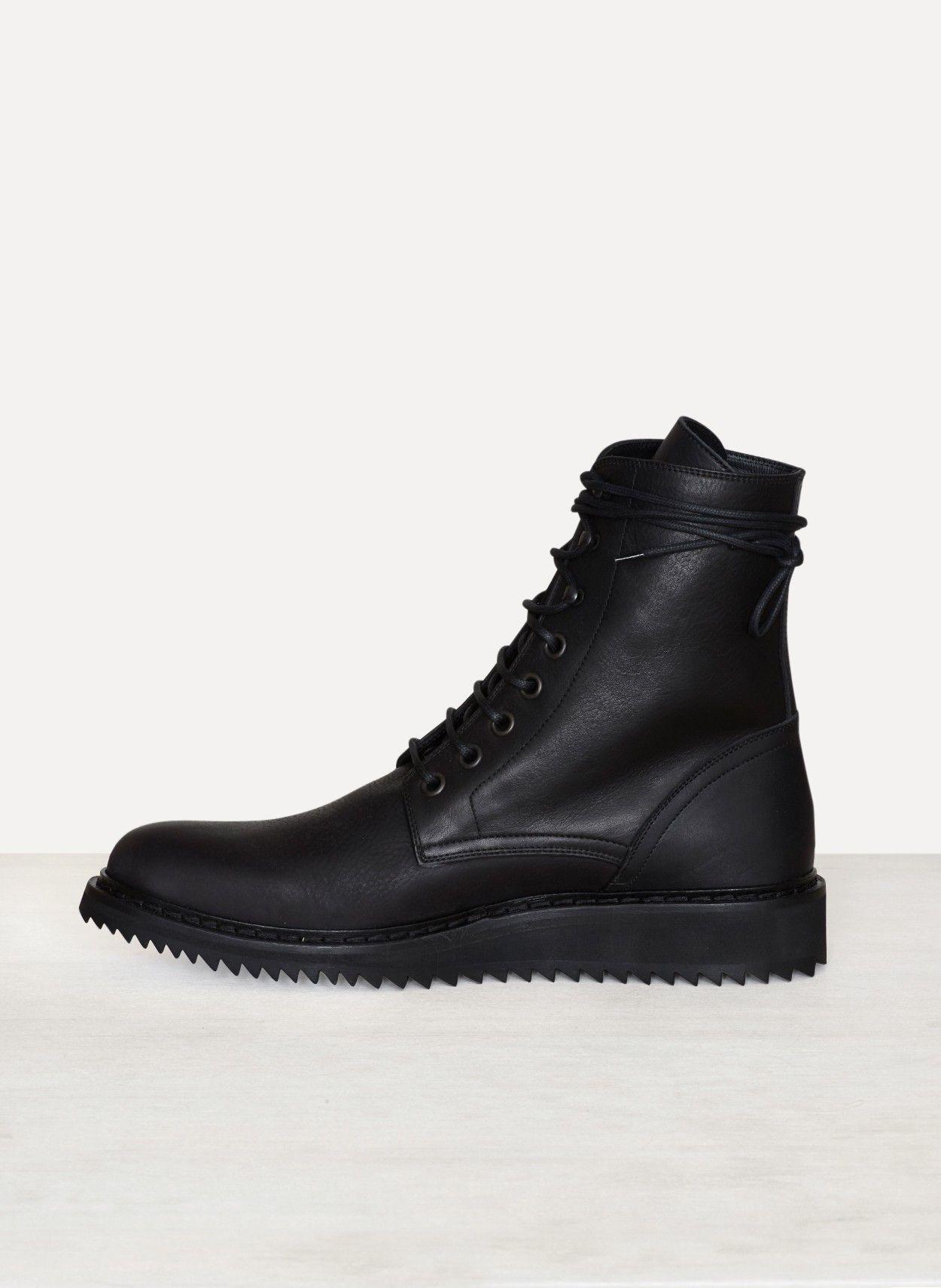 Black Vitello Olio Nero Boots Ann Demeulemeester JWswXmTq