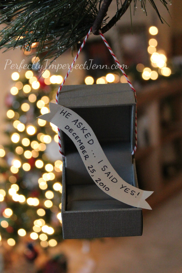 Donnamorganengaged Diy Ornament To Remember Your Engagement We Got Engaged On Christmas This Is Perfect