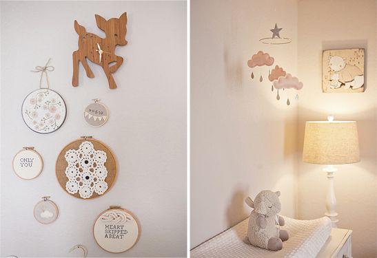 une chambre b b joliment vintage baby girls deer and girls. Black Bedroom Furniture Sets. Home Design Ideas