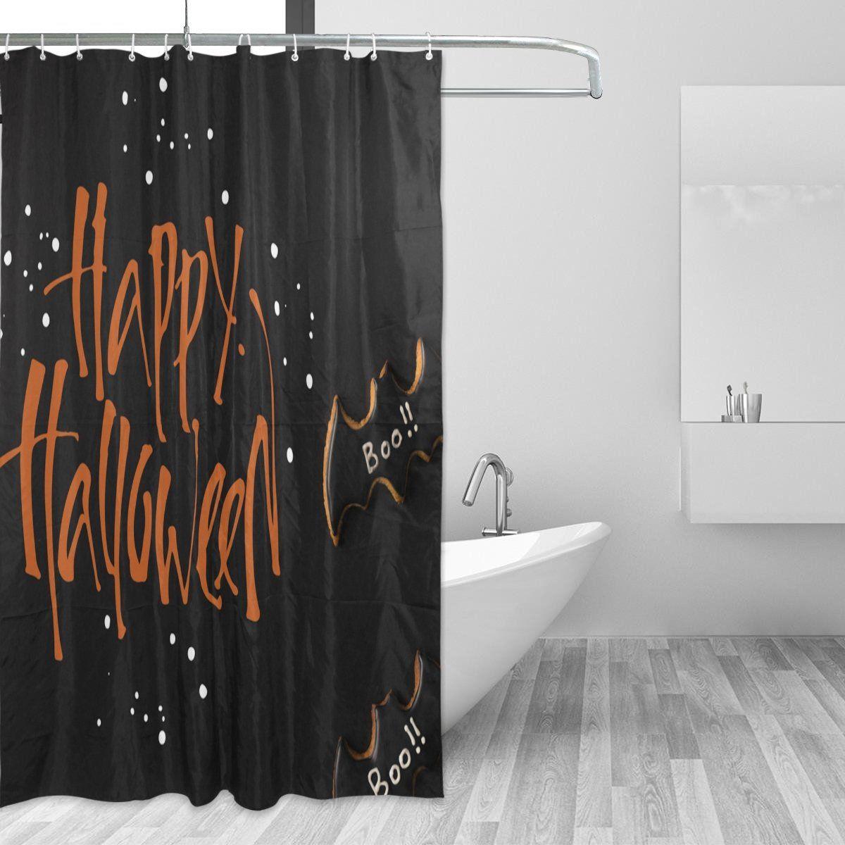 Giovanior Halloween Bat Cookies Fabric Resistant Waterproof Shower