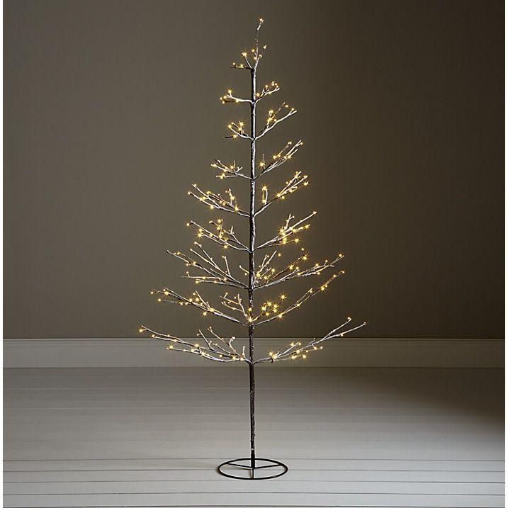 Buy John Lewis Pre-Lit Snowy Twig Christmas Tree, White, 6ft Online at johnlewis.com   Twig ...