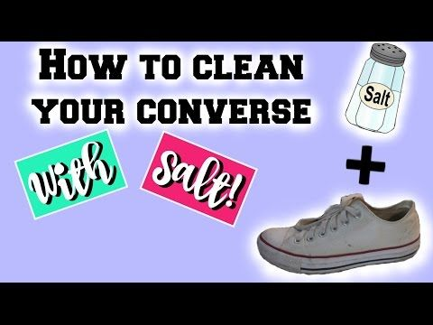 f267286677d DIY | HOW TO CLEAN YOUR WHITE CONVERSE WITH SALT! - YouTube | DIY ...