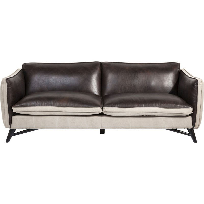 Canape En Cuir Marron Fashionista Kare Design Sofa Comfortable Sofa Seater