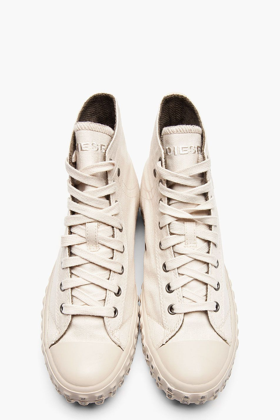137128a96442 DIESEL    Sandshell EXPOSURE I High Top Sneakers 32001M050004 High top  textile sneakers in off-white.