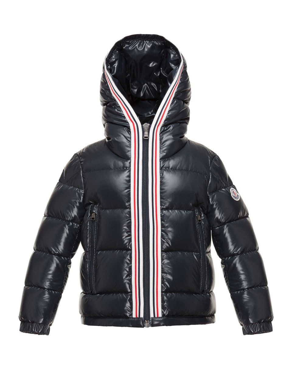 Moncler Maubic Hooded Striped Trim Puffer Jacket Navy Size 4 6 Puffer Jackets Jackets Striped Trim [ 1200 x 960 Pixel ]