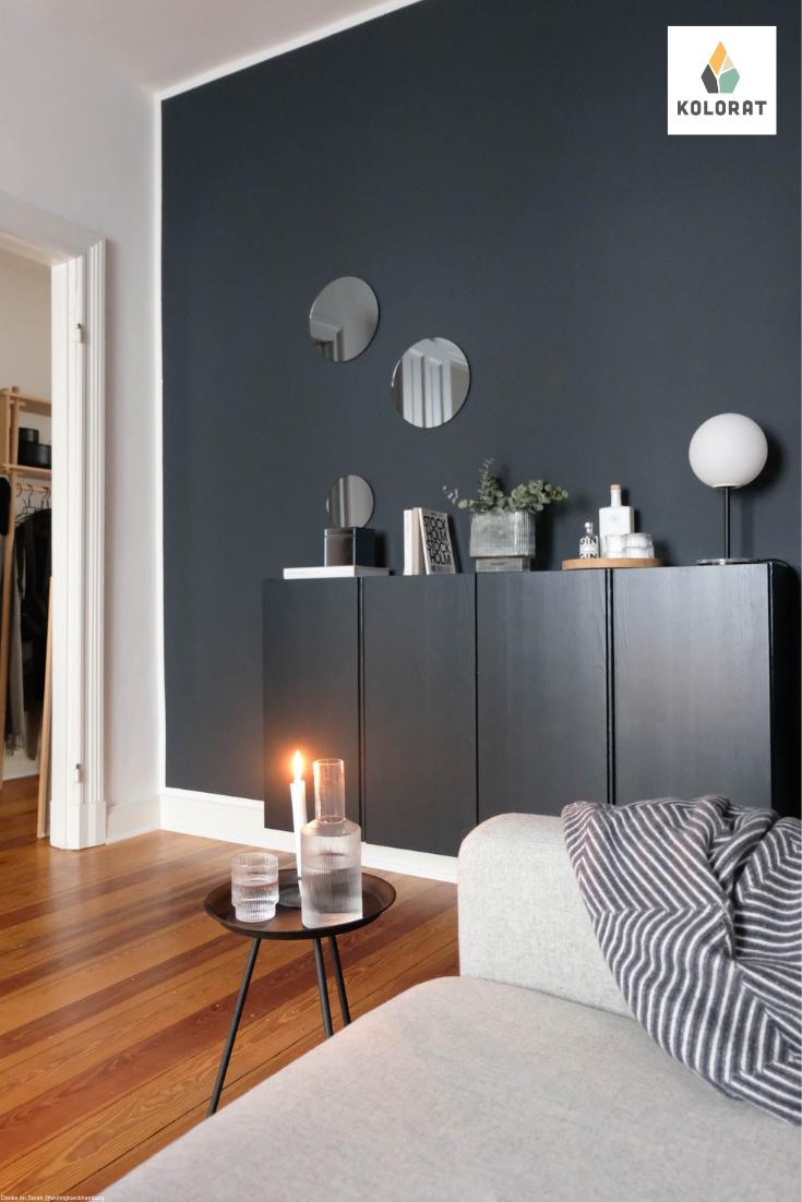 Mach Einfach Mal Blau Mit Wandfarben In Dunkelblau Von Www Kolorat De Kolorat Wandfarben Wo Wandfarbe Wohnzimmer Schoner Wohnen Wandfarbe Wohnzimmer Grau