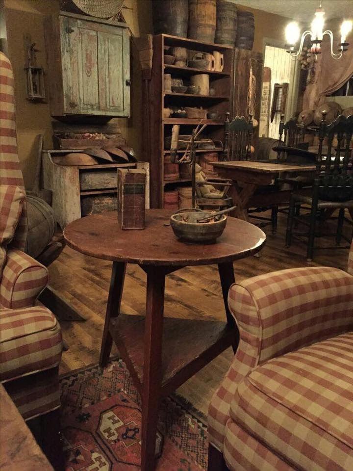 primitivecountrydecorating  primitive living room