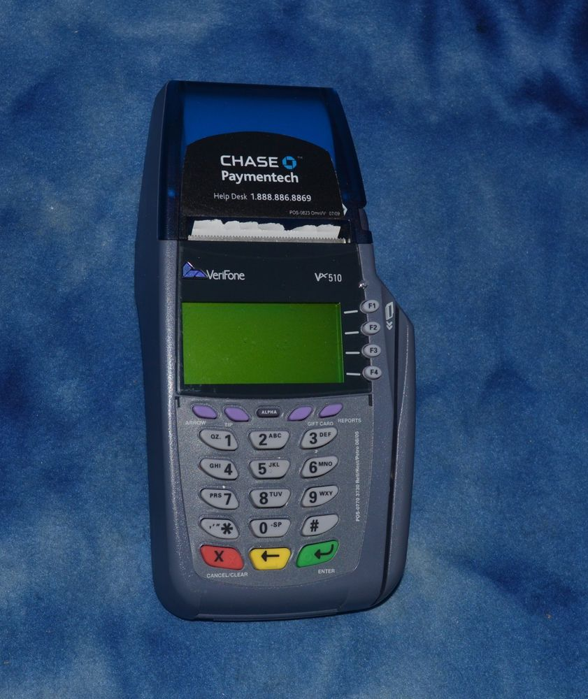 VERIFONE Model: OMNI 5100 9VDC S/N: 213 487 901 No