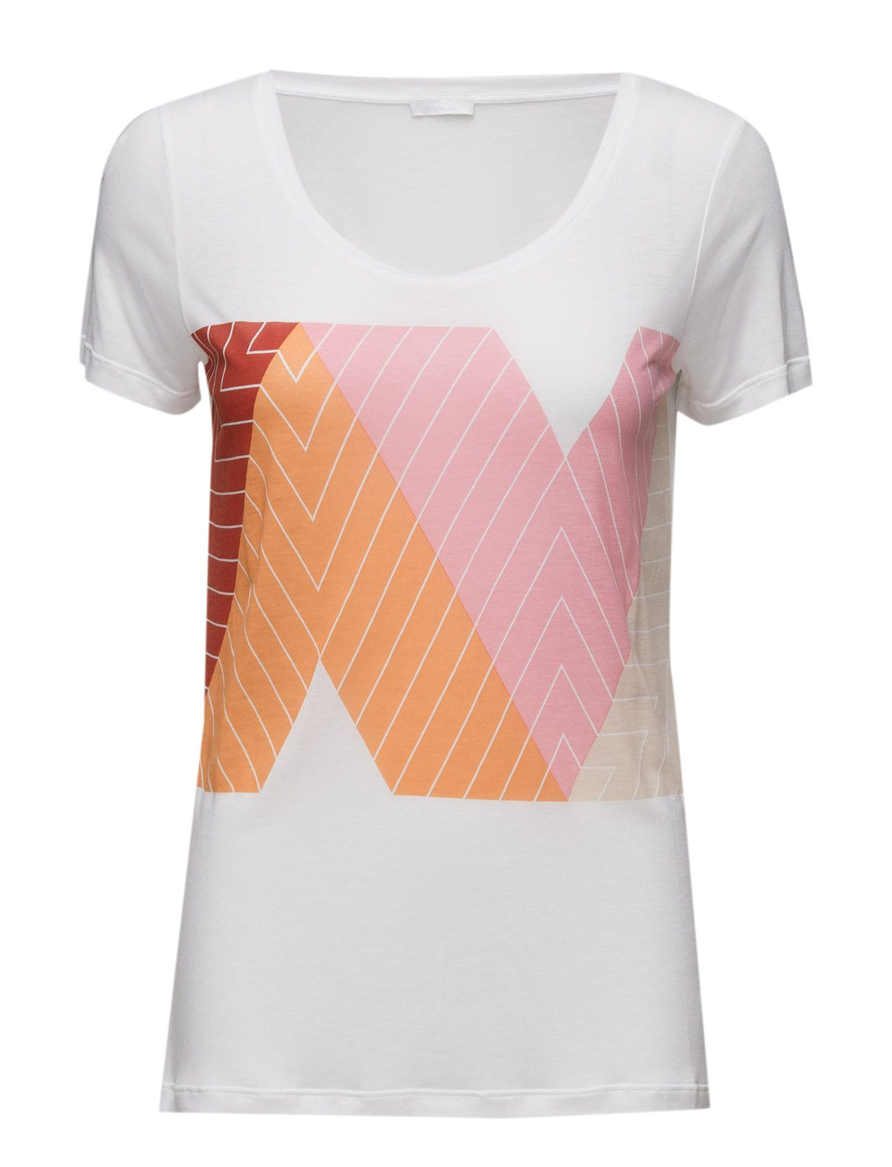 Day nd cay printed design on front scoop neckline short sleeves