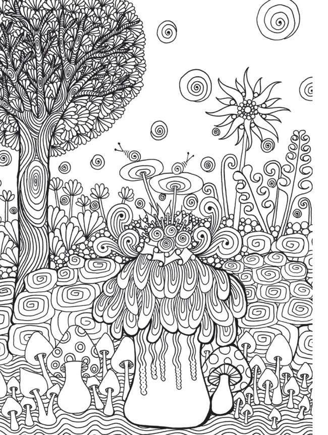 Zen Garden Colouring Book Zentangle Inspired Art By Wei