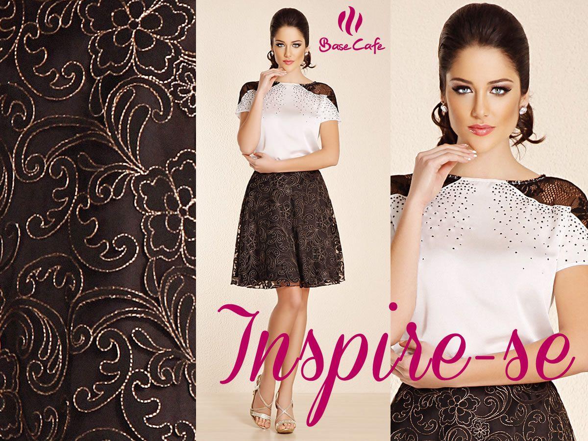 Que tal essa saia com inspiração barroca  Aposte nessa tendência e fique  ainda mais linda 97e5fe5878