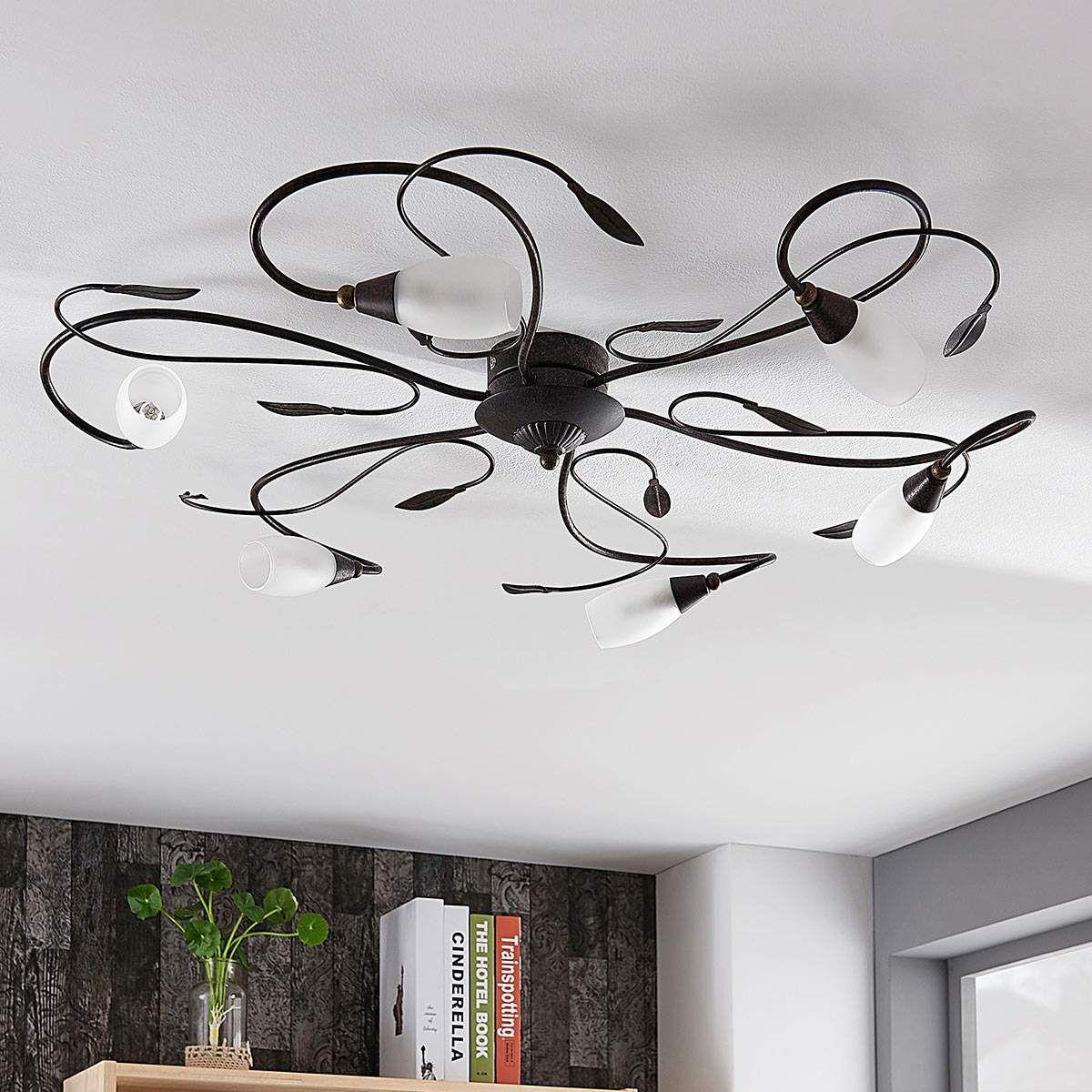 LED Deckenleuchte Stefania Sechsflammig Lampenwelt Deckenleuchte Antik Wohnraum